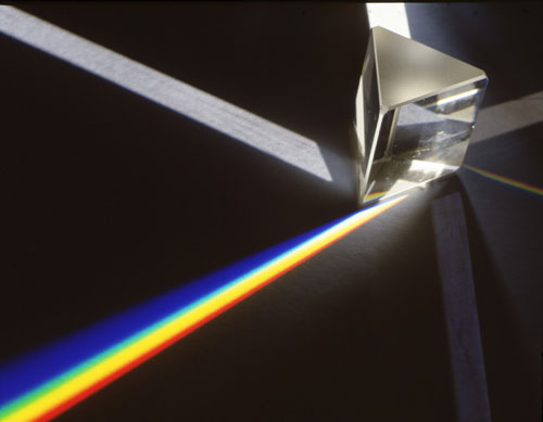 Difraccion de la luz solar en los tonos del arco iris, decubrio por SIR ISAAC NEWTON 1704 Optiks