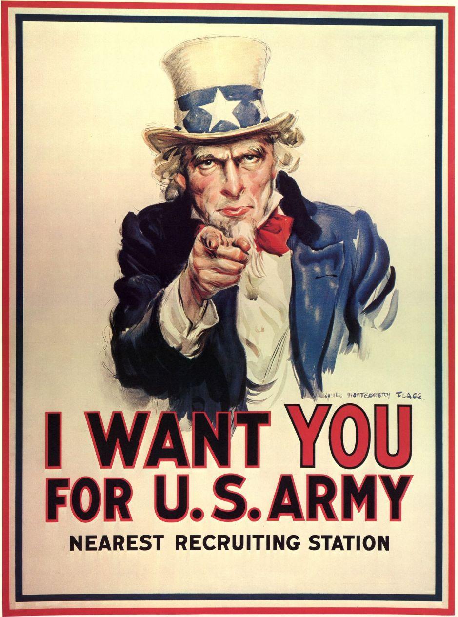 USA_1916_James Montgomery Flagg_Unclesamwantyou